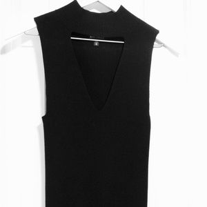 Black Cut-out Tank